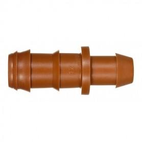 Enlace con junta marrón 16mm. Bolsa de 10 Unidades