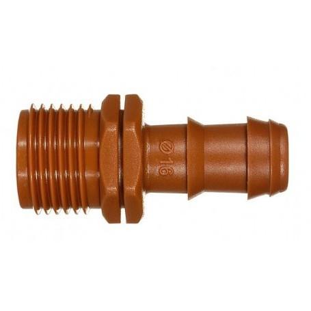 Enlace mixto marrón 16mm