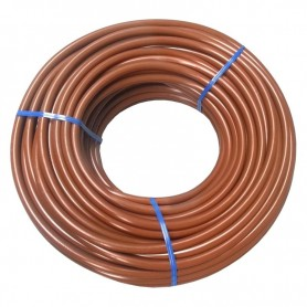 Microtubo PVC flexible 4,5x6,5 marrón