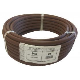Tubería lisa 16mm marrón