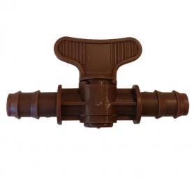 Llave de paso marrón 16mm. Bolsa 10 unidades