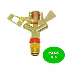 """Aspersor 1/2"""" circular latón Pack de 5 Unidades"""