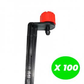 Gotero regulable con estaca Pack de 100 Unidades
