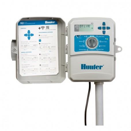 Programador Eléctrico Hunter X2 WiFi Exterior. De 4 a 14 Estaciones.