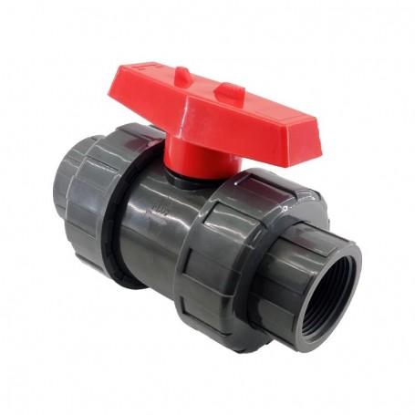 Válvula de Esfera PVC Rosca Hembra